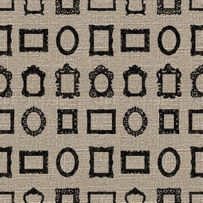 Silhouetted Frames on Linen