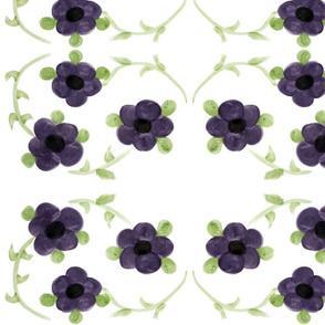 Large Breezy Purple Flowers