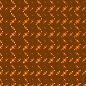 Zig Zag - Orange Brown