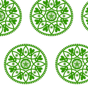 green paper doily