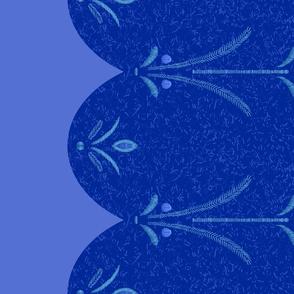 Anna Blue Double Border
