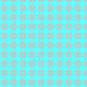 square knot blue coral