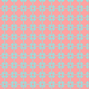 square knot coral blue
