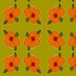 Golden Orange Pastel Flower