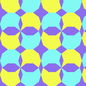 decagon purple/teal/yellow