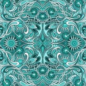 Psychedelic Teal Morning
