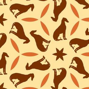 Rust Greyhounds gg2   ©2010 by Jane Walker