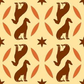Rust Greyhounds gg4    ©2010 by Jane Walker