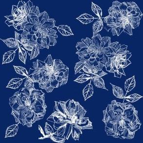 Gracie's Roses in ink