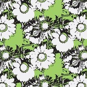 Starburst Print Green and Grey