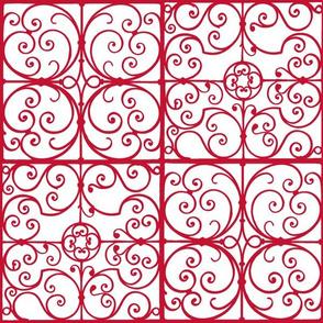 cut paper tiles