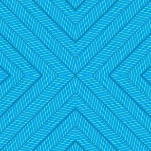 Chevron Stars Blue