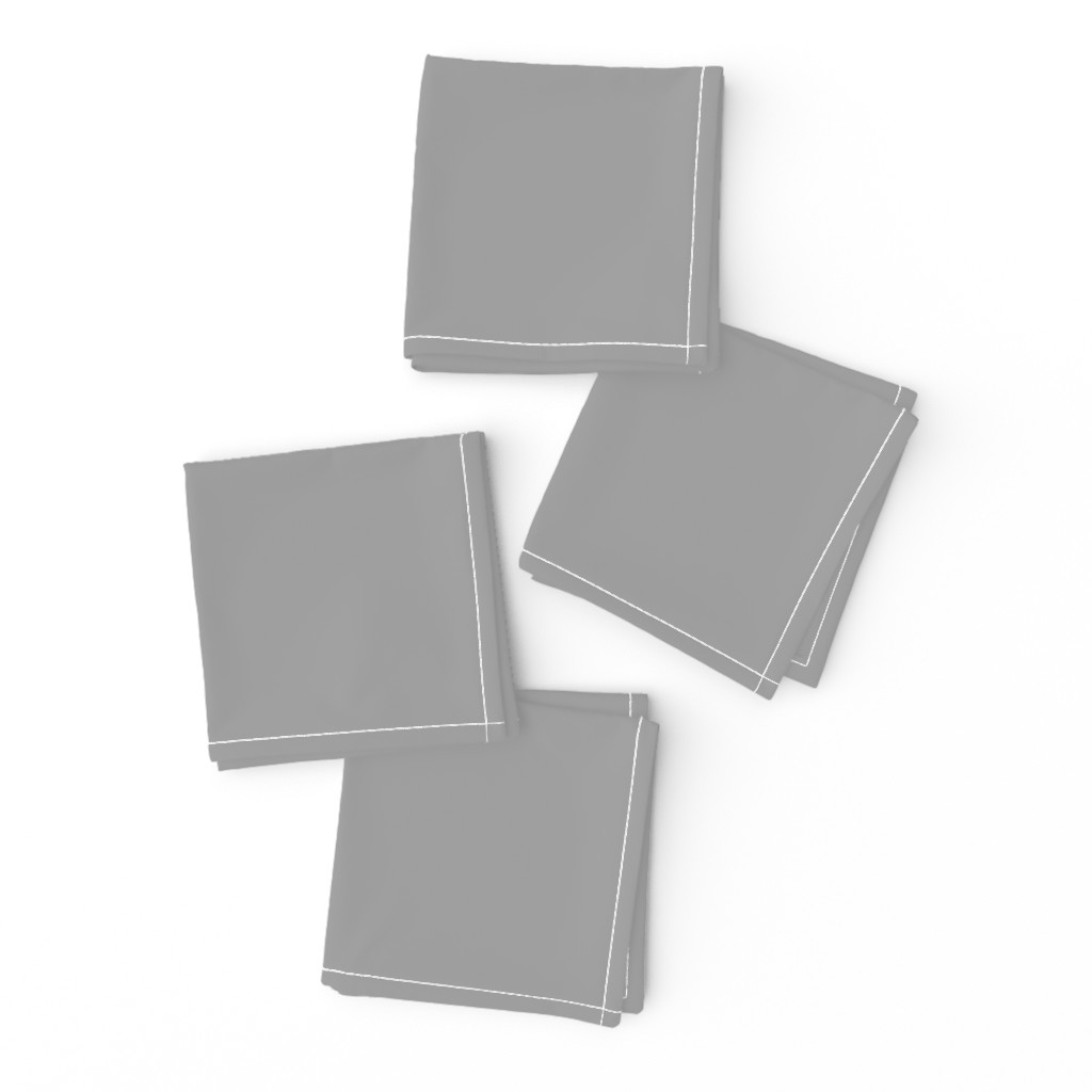 Frizzle Cocktail Napkins featuring Solid Mid Grey by gingezel