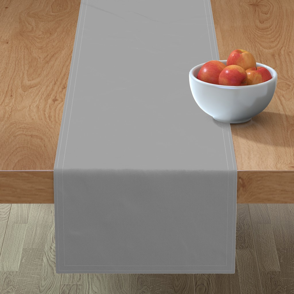 Minorca Table Runner featuring Solid Mid Grey by gingezel