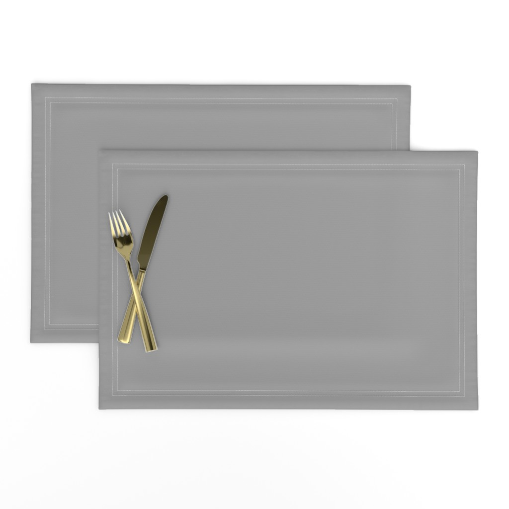 Lamona Cloth Placemats featuring Solid Mid Grey by gingezel