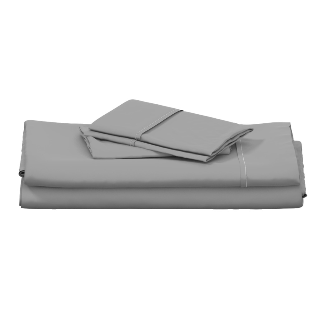 Langshan Full Bed Set featuring Solid Mid Grey by gingezel
