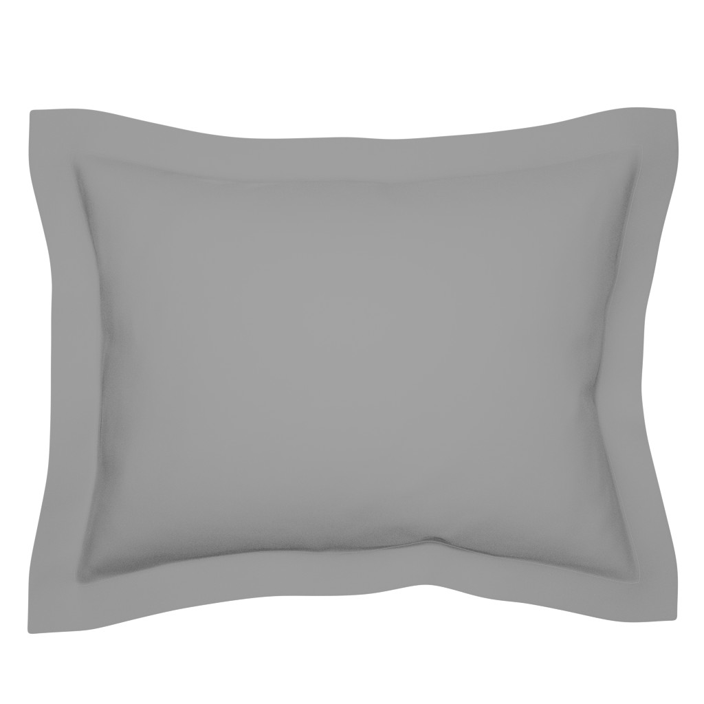 Sebright Pillow Sham featuring Solid Mid Grey by gingezel