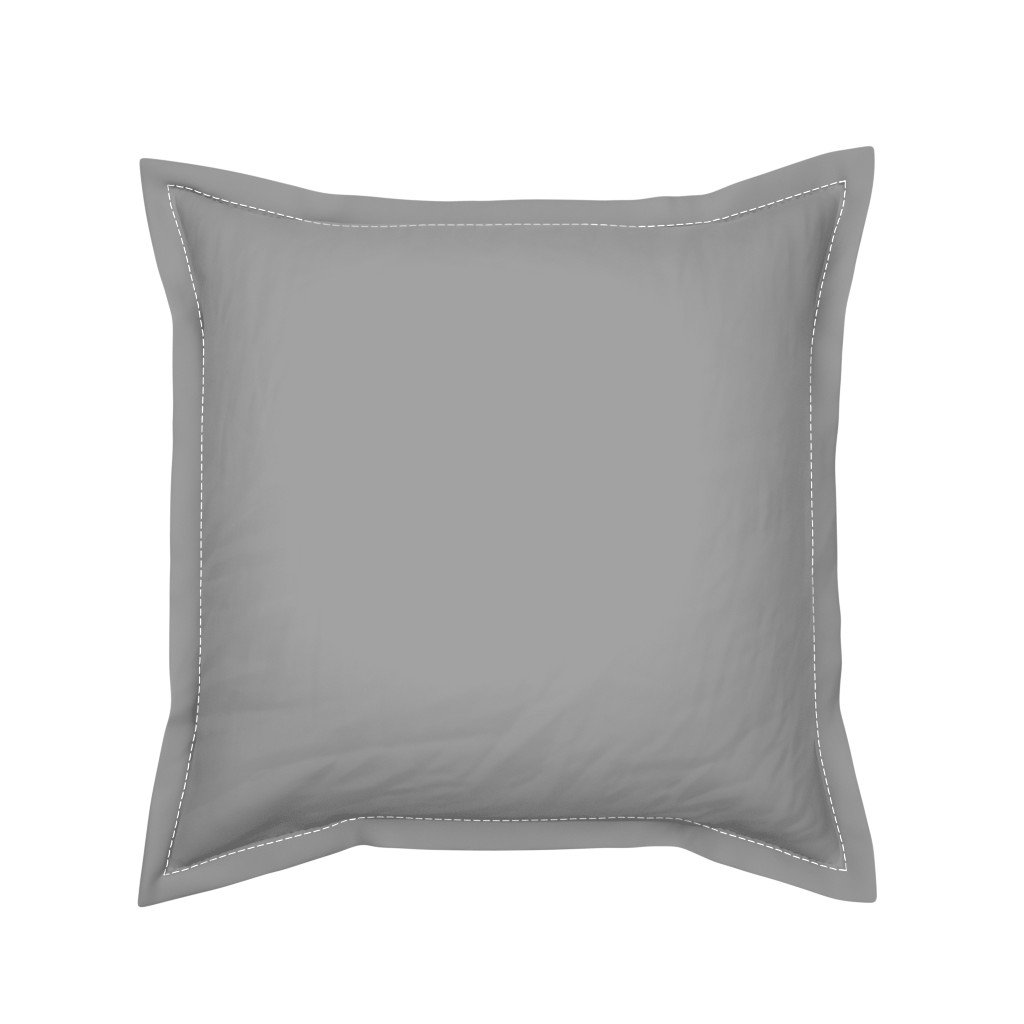 Serama Throw Pillow featuring Solid Mid Grey by gingezel