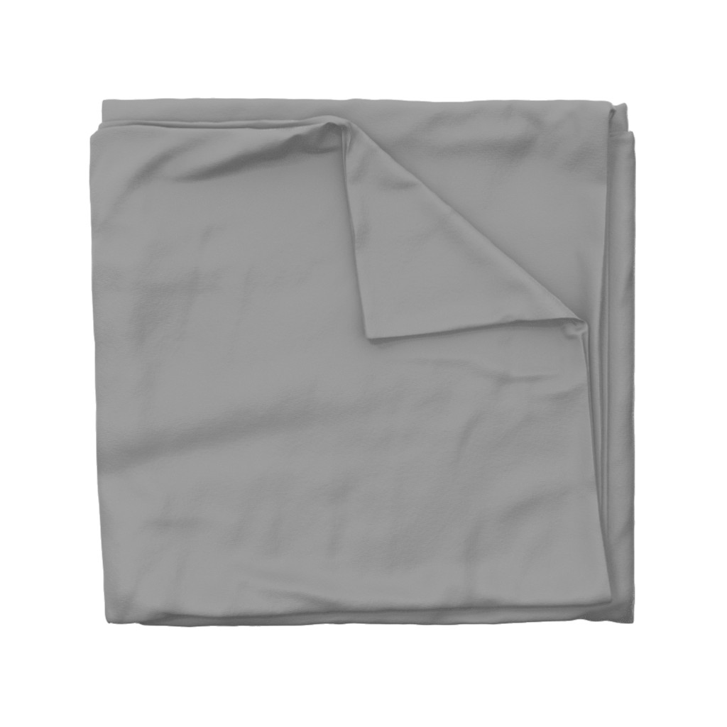 Wyandotte Duvet Cover featuring Solid Mid Grey by gingezel
