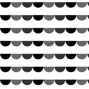 hemispheres gray and black