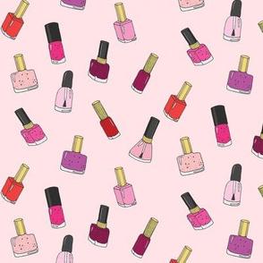 nail polishes pink