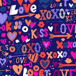 Colorful blue love doodles 18_0426