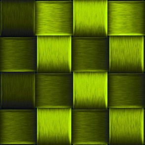 bright green metal weave