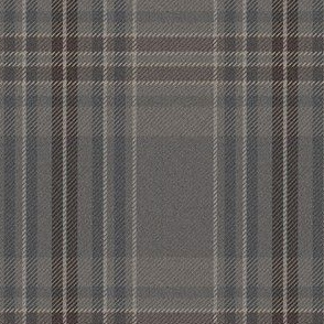 """New Ancient Plaid 2 in weathered grey, 4""""x5"""""""