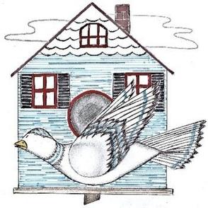 birdhouse and bird
