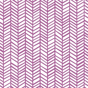 Herringbone Radiant Orchid by Friztin