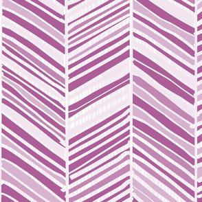 Herringbone Hues of Purple Orchid by Friztin