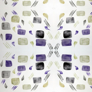 Brush Strokes - Purplea