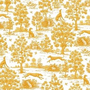 Gold Greyhound Toile ©2010 by Jane Walker