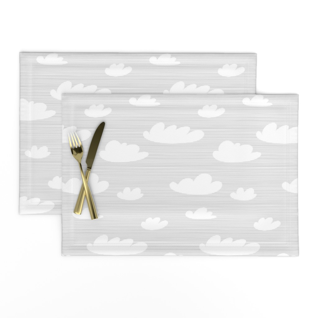 Lamona Cloth Placemats featuring Cloud Toile by Friztin by friztin