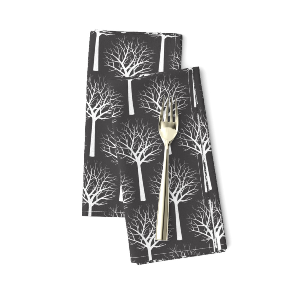 Amarela Dinner Napkins featuring Modern Graphic Toile de Jouy by Friztin  by friztin