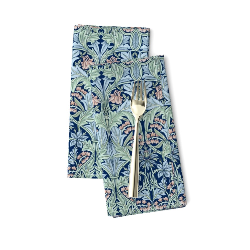 Amarela Dinner Napkins featuring William Morris Bluebell/Columbine by chantal_pare