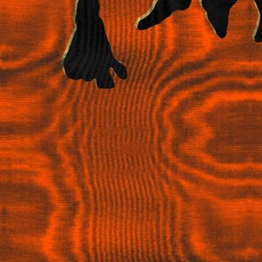 1892 Bird On a Wire Damask ~ Moire ~Halloween ~ Marquise and Blackmail