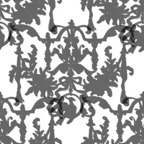 1892 Bird On a Wire Damask ~ Silhouettes