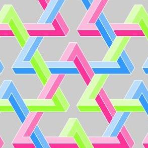 02820167 : impossible interlocking triangles 1 x3