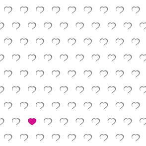 Hearts - Pink