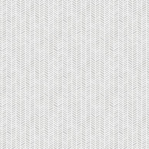 Micro Herringbone Medium Light Grey by Friztin