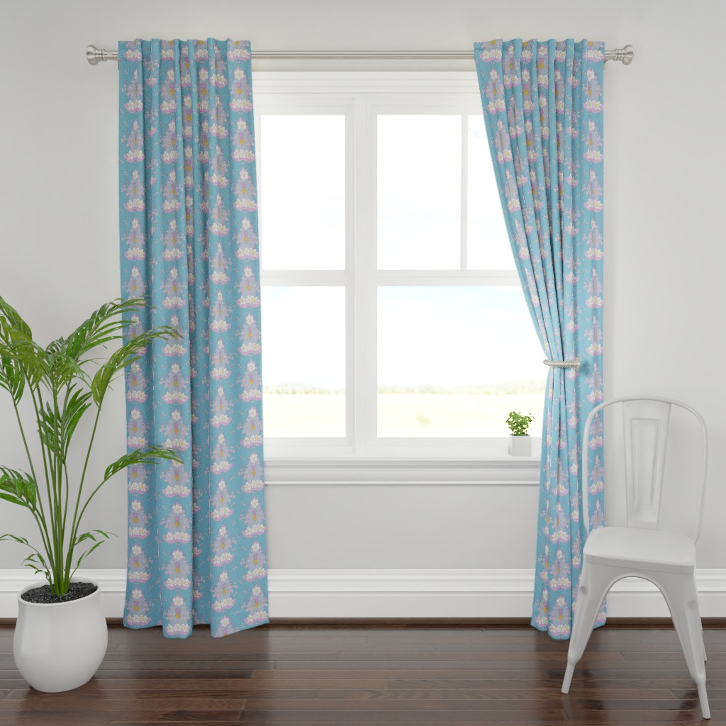 Plymouth Curtain Panel featuring Southern_Sylvia by suzy_albert_design