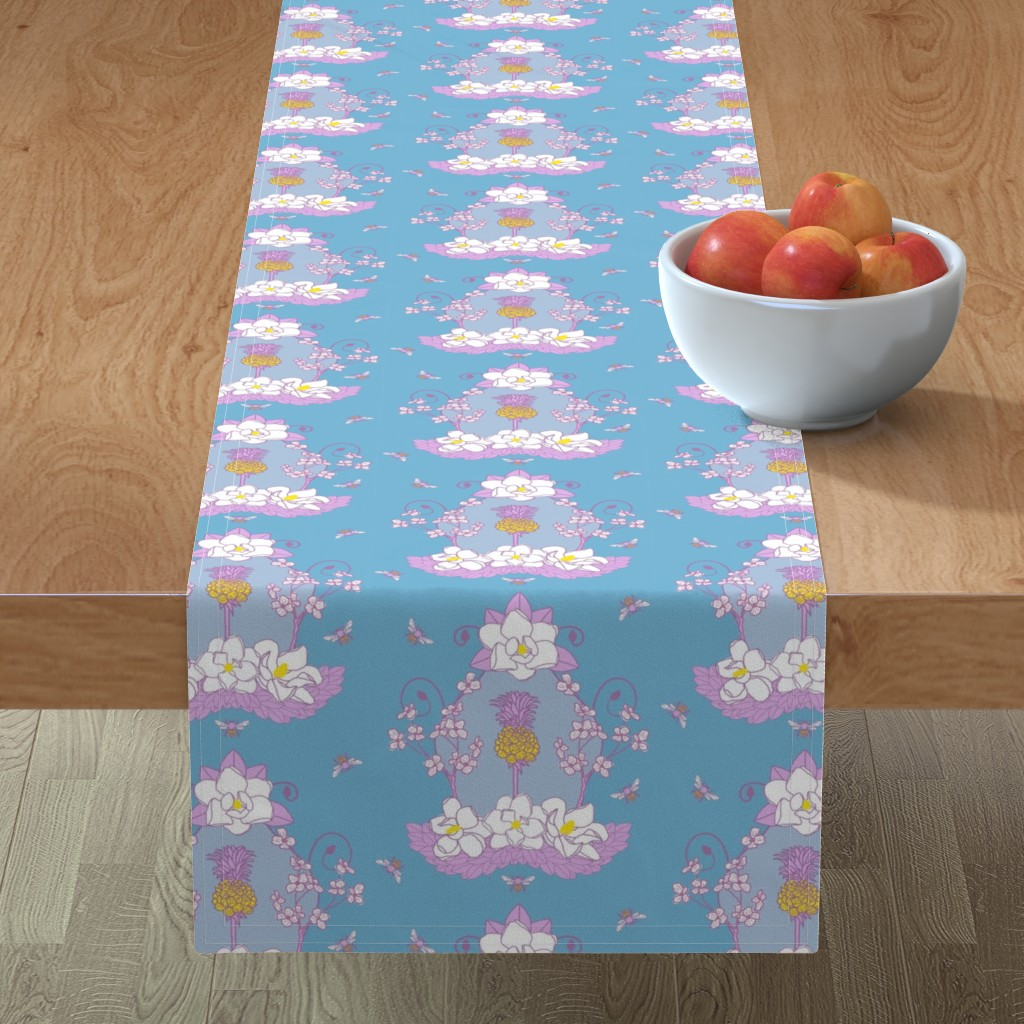 Minorca Table Runner featuring Southern_Sylvia by suzy_albert_design