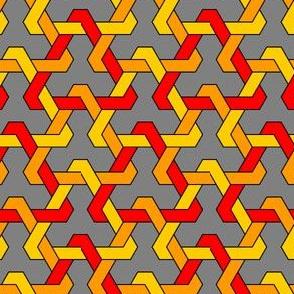 02821249 : interlocking triangles x 3