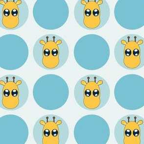 Blue Small Giraffe Dots