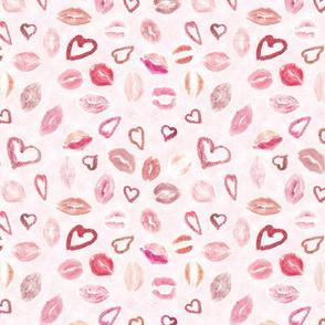 Hearts & Kisses pink