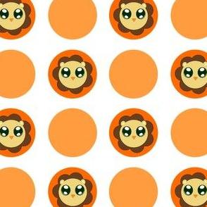 Orange Small Lion Dots