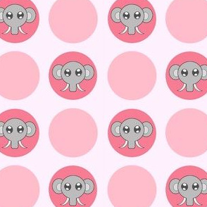 Pink Small Elephant Dots