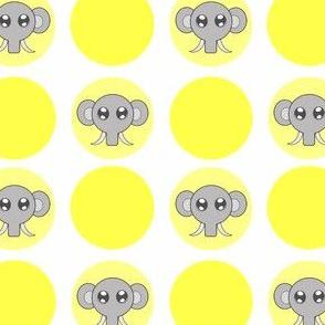 Yellow Small Elephant Dots