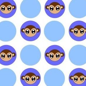 Blue Small Monkey Dots